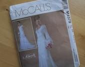 Uncut McCalls Sewing Pattern 4379 - Misses/Misses Petite Lined Bridal Gowns - Size 6-12
