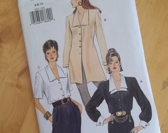 Uncut Vogue Sewing Pattern 8912 - Misses Blouse and Tunic - Size 6-10
