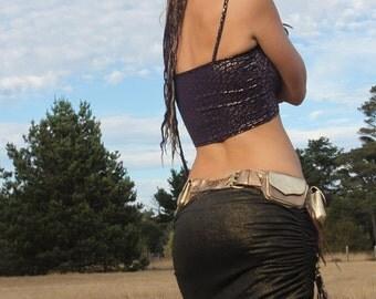 Gold & Black reversible miniskirt