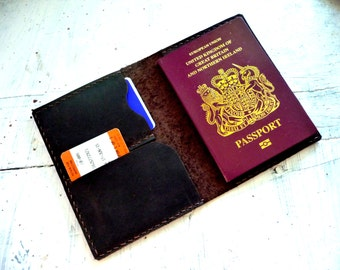 Leather Passport Cover. Travel Wallet.
