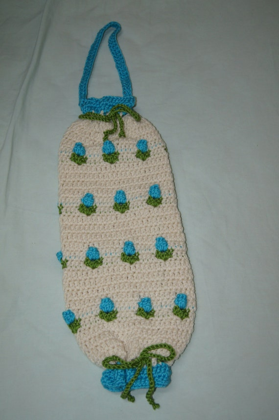 Crochet Patterns For Bag Holders : Spring Flowers Bag Holder Crochet Pattern PDF INSTANT