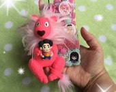 MADE TO ORDER, Lion & Steven Plush Phone Charm or Keychain