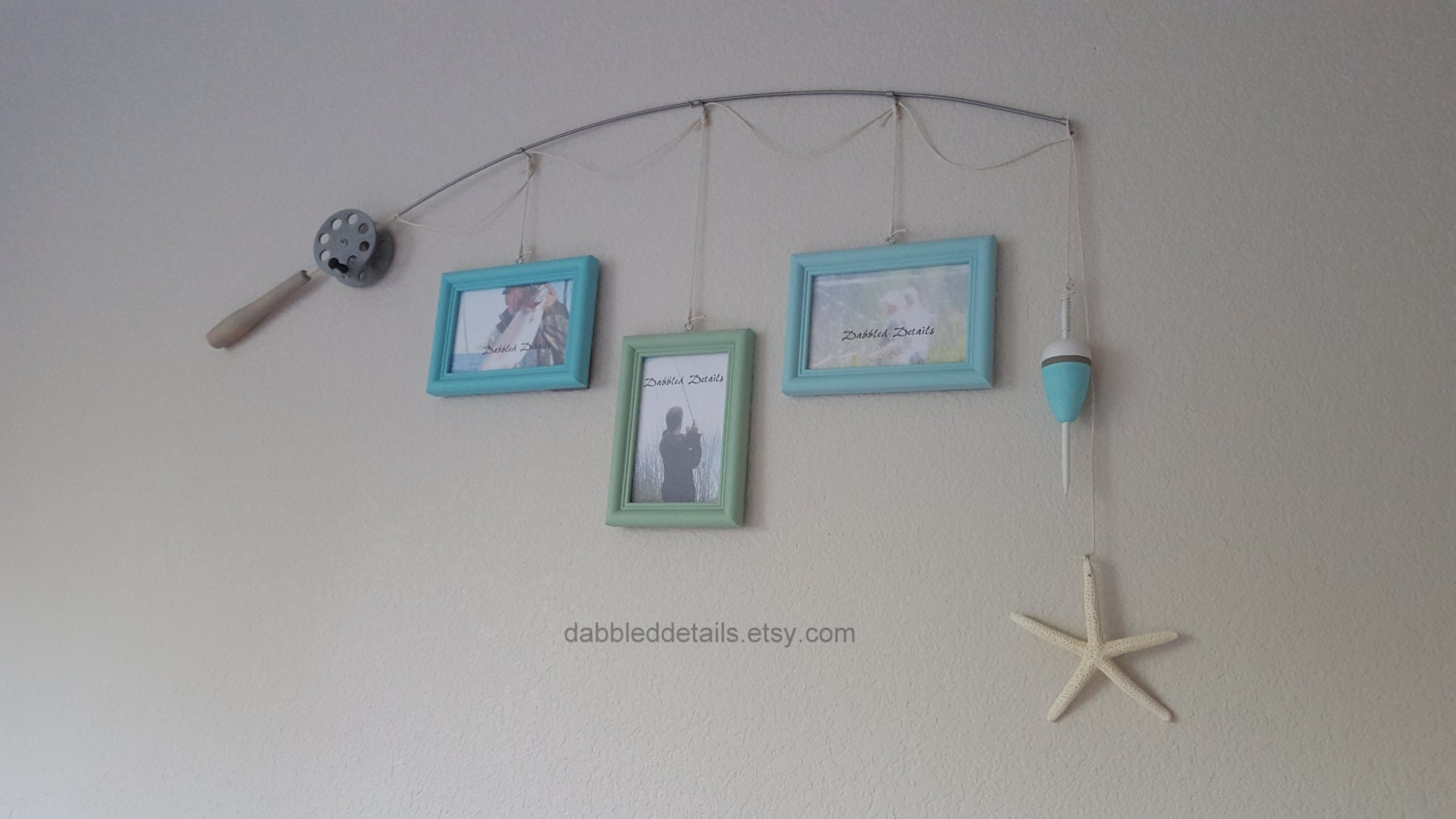 Fishing pole picture frame new design silver pole 3 4 for Fishing picture frame