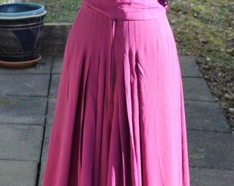 HOLLYWOOD GLAMOUR! Genuine 1930's Long Burgandy Gold Business Dress Gown Rayon