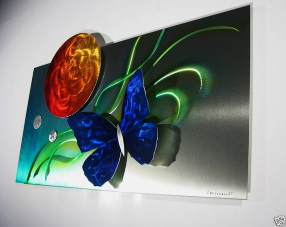 Alex kovacs original art metal wall sculpture abstract home for Origine metal resinence