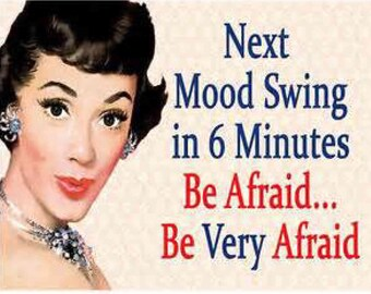 Next Mood Swing in 6 minutes be afraid be very afraid funny hand towel kitchen decor