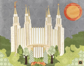 Washington D.C. LDS Temple  PRINT (Various Sizes)
