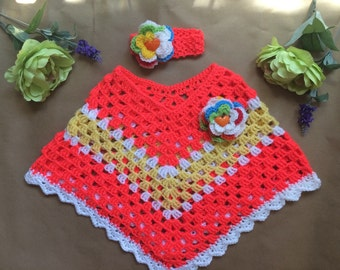 Toddler Party Poncho Crochet 2T to 5T