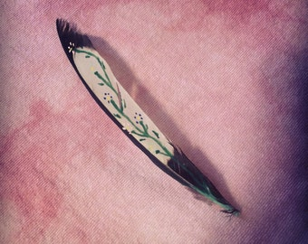 Painted Magpie Flower Feather