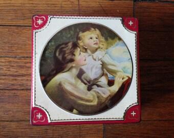 Vintage Tin Toffee Box
