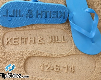 Anniversary Flip Flops Custom Date *Check size chart before ordering*