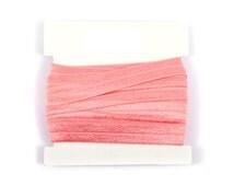 Valentine 5/8th inch Fold Over Elastic, FOE, Satin Elastic for Headbands -Hair ties 5 or 10 yards - Woodrose pink