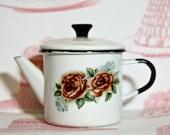 Vintage Russian Enamel Teapot