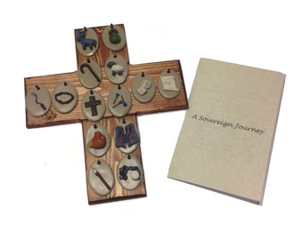 Easter countdown ornaments and display cross