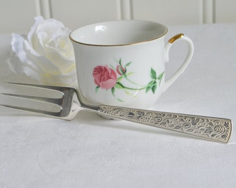 Large cake fork, ornate serving fork, vintage Swedish Nils Johan