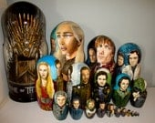 Set of Twenty Game of Thrones Nesting Dolls