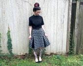 Mid Century Modern Mod Dress Diamond Pattern Slits size Small