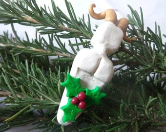 Horned God Yule Ornament.  Winter Solstice Ornament. Pagan Ornament. Christmas Ornament.
