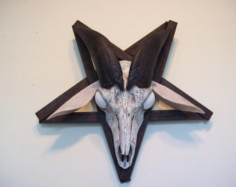 goat skull in pentagram