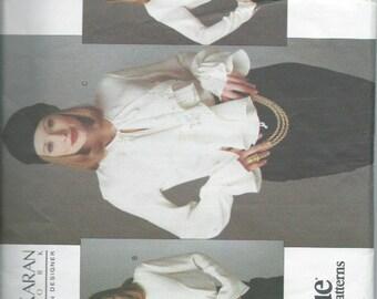 Vintage Donna Karan Vogue American Designer Sewing Pattern Vogue 1187 (1993) Misses' Body Blouse