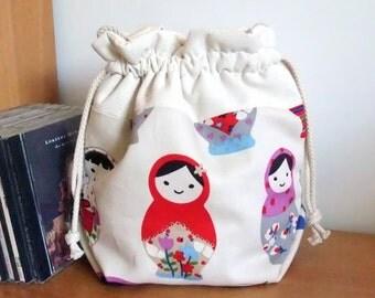 3 in 1 handbag / shoulder bag / crossbody bag ~ Matryoshka Russian doll (A1)