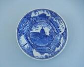 U.S. Capitol Plate - Cobalt Blue Plate - Vintage Souvenir Plate - Washington DC Plate - Blue Transferware Plate