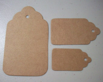150 Kraft Cardstock Tags with Punched Holes