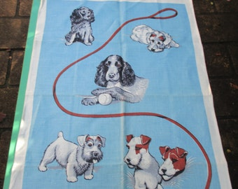 Tea Towel Vintage Featuring - Dogs Very 1970s