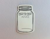 Mason Jar Advice Tags - Wedding Shower Tags - Wishing Tree Tags - Miss To Mrs Advice Tags