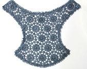Blue Lace Crochet Applique Necklace Collar - For DIY Crafts