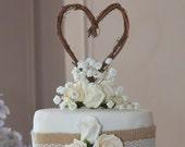 Rustic Cake Topper, Wedding Engagement, Bridal Shower