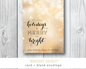 Bright Spirit | Christmas or Holiday Card | Printed and Printable by Darby Cards