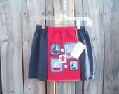SALE...Size 8/10, Girls Skirt, Girls T-shirt Skirt, Upcycled Skirt, Repurposed Skirt, Eco Clothing, Kids Skirt