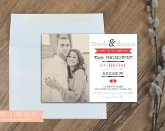 Printable Engagement Invitation