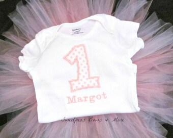 Girls 1st Birthday Personalized Bodysuit, 1st Birthday Bodysuit, Personalized Bodysuit, Cake Smash Outfit, Birthday Shirt