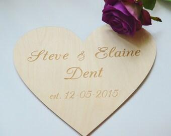10''x8'' Personalized Heart, Heart, Oversized Heart, Heart Sign, Wood Heart, Hearts, Heart Sign, Wood Heart Wedding, Guestbook Alternative,