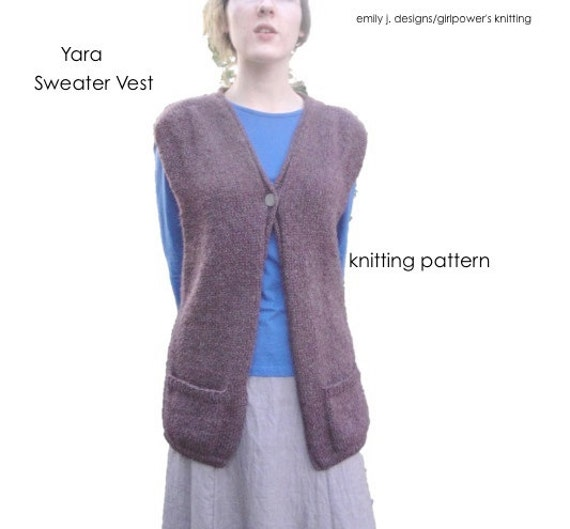 Aran Vest Knitting Pattern : Long Sweater Vest Knitting Pattern, Intermediate Knit ...