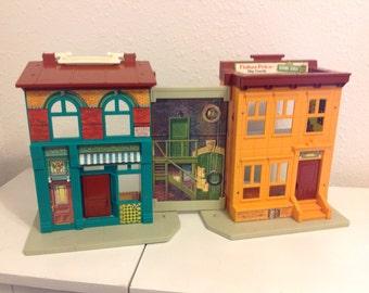 Vintage Sesame Street Fisher Price Play Set