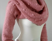 SCARF with Sleeves KNITTING PATTERN - Celine Scarf with sleeves - Cowl Pattern Big Scarf Cowl with Long Sleeves, pdf files Instant Download