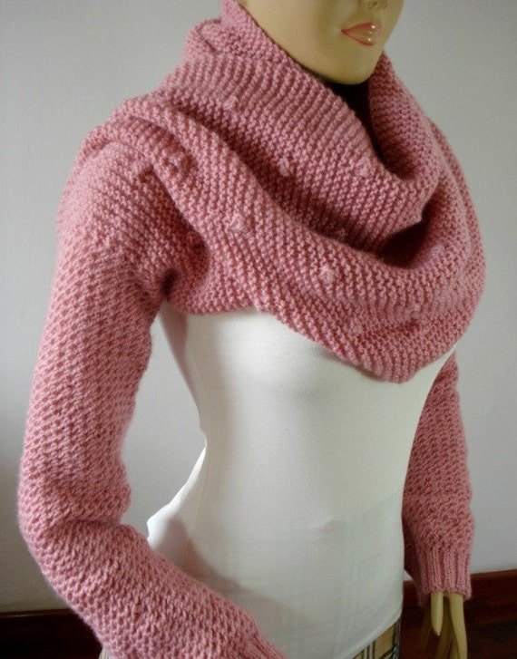 KNITTING PATTERN Scarf with Sleeves Celine Scarf with