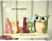 BABY OWL, felt owl, owl nursery, personalized baby, kawaii owl, woodland animals, forest creatures, wool felt