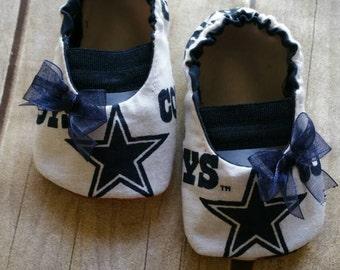 Dallas Cowboys Baby Maryjane Booties