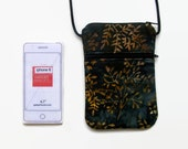 Cross Body Cell Phone Hipster, Iphone case, in  Black, Slate, Tans