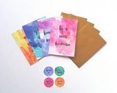 Watercolour Greeting Cards (Set A)