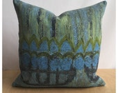 """Cushion Cover Pillow Cover Vintage 60s Armada Fabric By Nicola Wood For Heals 16"""" x 16"""""""