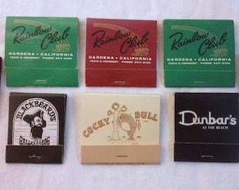 Vintage Matchbooks Instant Collection Man Cave Bar Gambling Card Club Cocktails Steakhouse