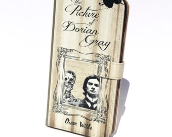 Book phone /iPhone flip Wallet case Picture of Dorian Gray for iPhone X 8 7 6 5, 6 & 7 plus, Samsung Galaxy S8 S7 S6 S5 Note 4 5 7 8 LG