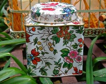 Tin, Tin Box Co, Bohemian, Boho, Long Island City, New York Tin, Baked Goods, Storage, Cookie Container, Teabag Tin, Vanity, Dresser Decor