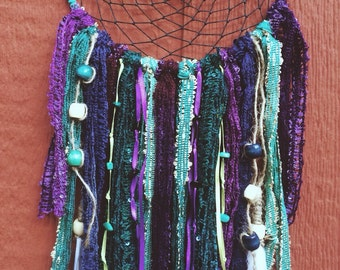 "Mystic Peacock Dreamcatcher available in 5.5"", 7.5"" blessed with Sage & Palo Santo"