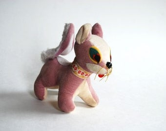 Vintage Purple Squirrel Stuffed Animal Made in Japan